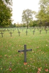 Crosses marking graves at a huge German cemetery