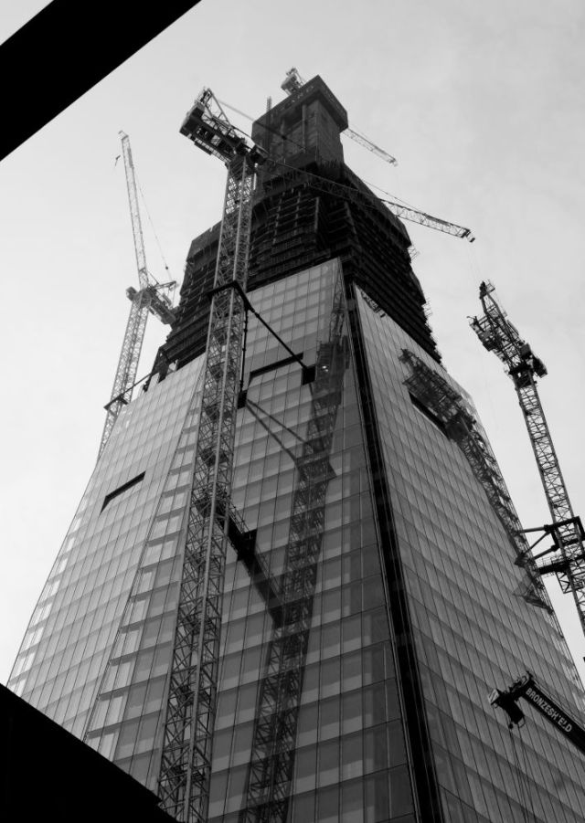 The Shard, London, when under construction