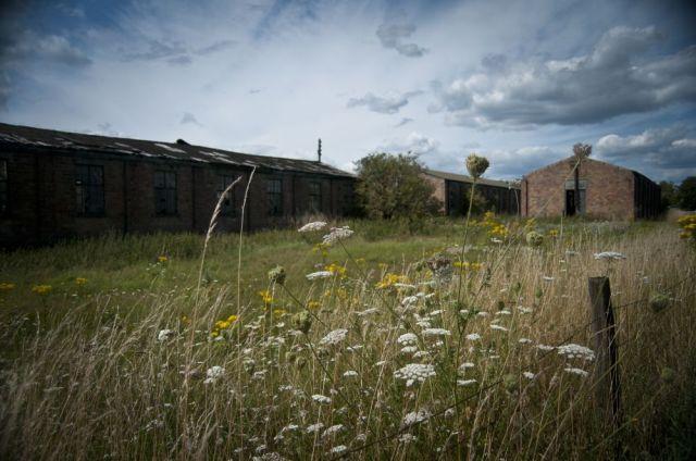 Huts at the old RAF Lympne air base