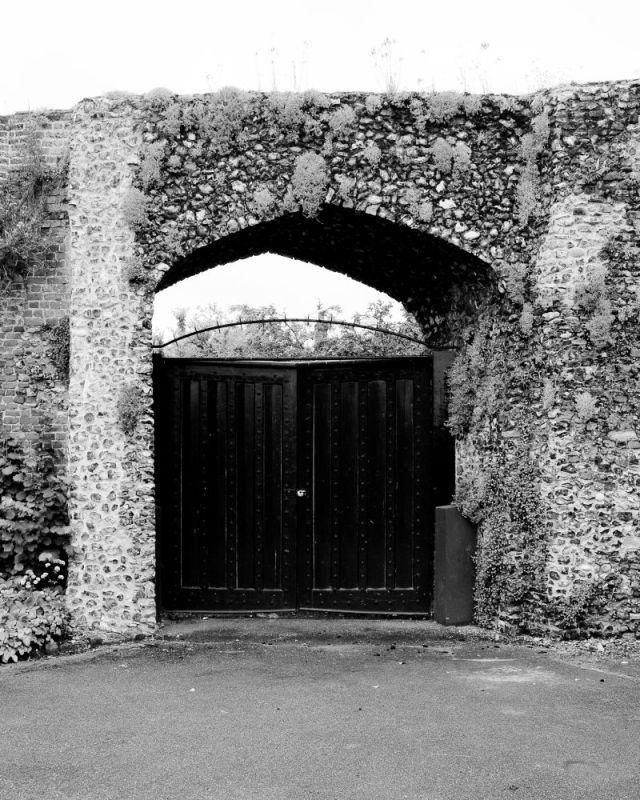 The gates at Hertford Castle
