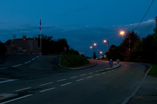 Joncherey at dusk, 2 August 2014