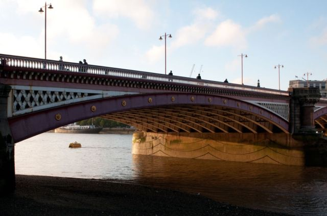 Blackfriars Bridge at sunset