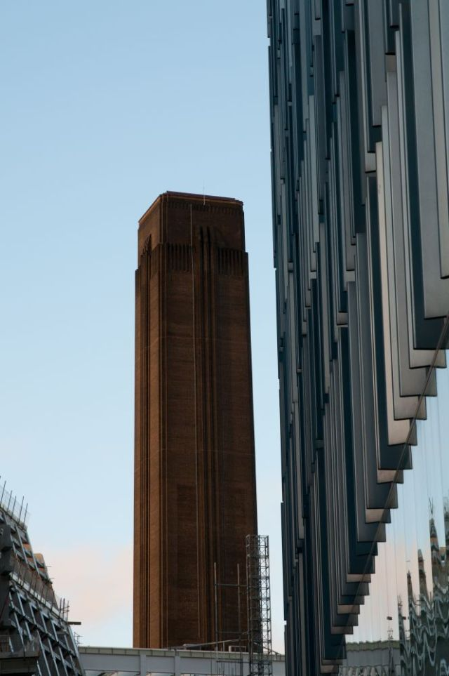 A glimpse of Bankside Power Station (aka Tate Modern)