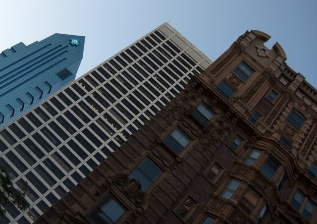 Three buildings in Philadelphia of varying ages