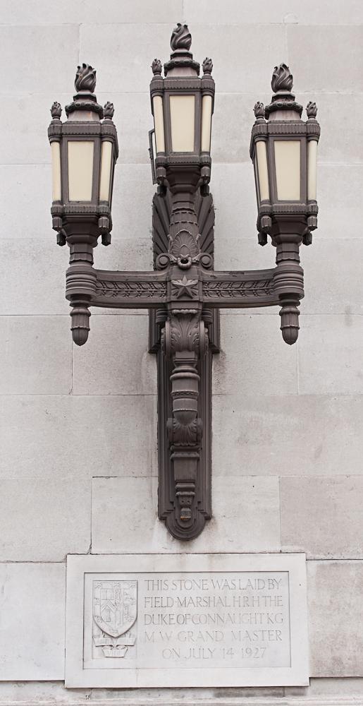 Lamps at Freemasons' Hall